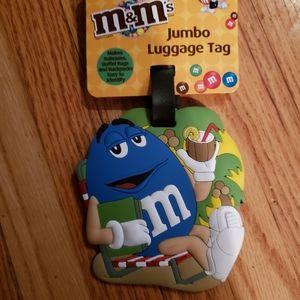 Brand New M&M Jumbo Luggage Tag